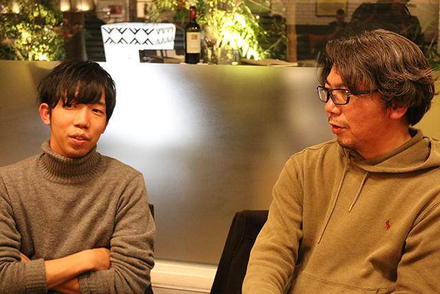 リクト山田さんと卒業する池邊さんが二人で語っている姿